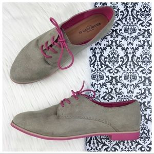 Mossimo Supply Co : Suede Pink & Tan Oxfords 👛